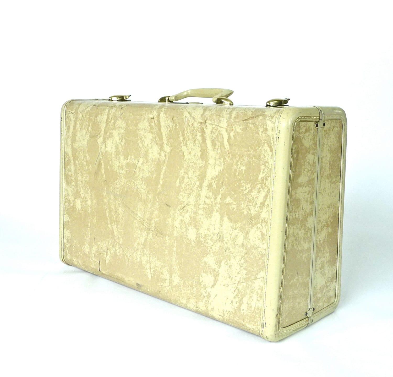 Ivory Marbled Samsonite Mid-Size Suitcase - marybethhale