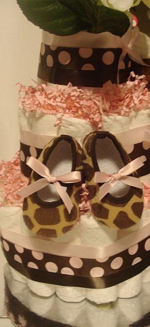 Sweet Baby Girl Giraffe Diaper Cake