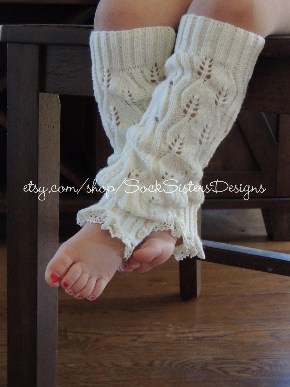Little Girl Knit Leg Warmers - Hot Girls Wallpaper