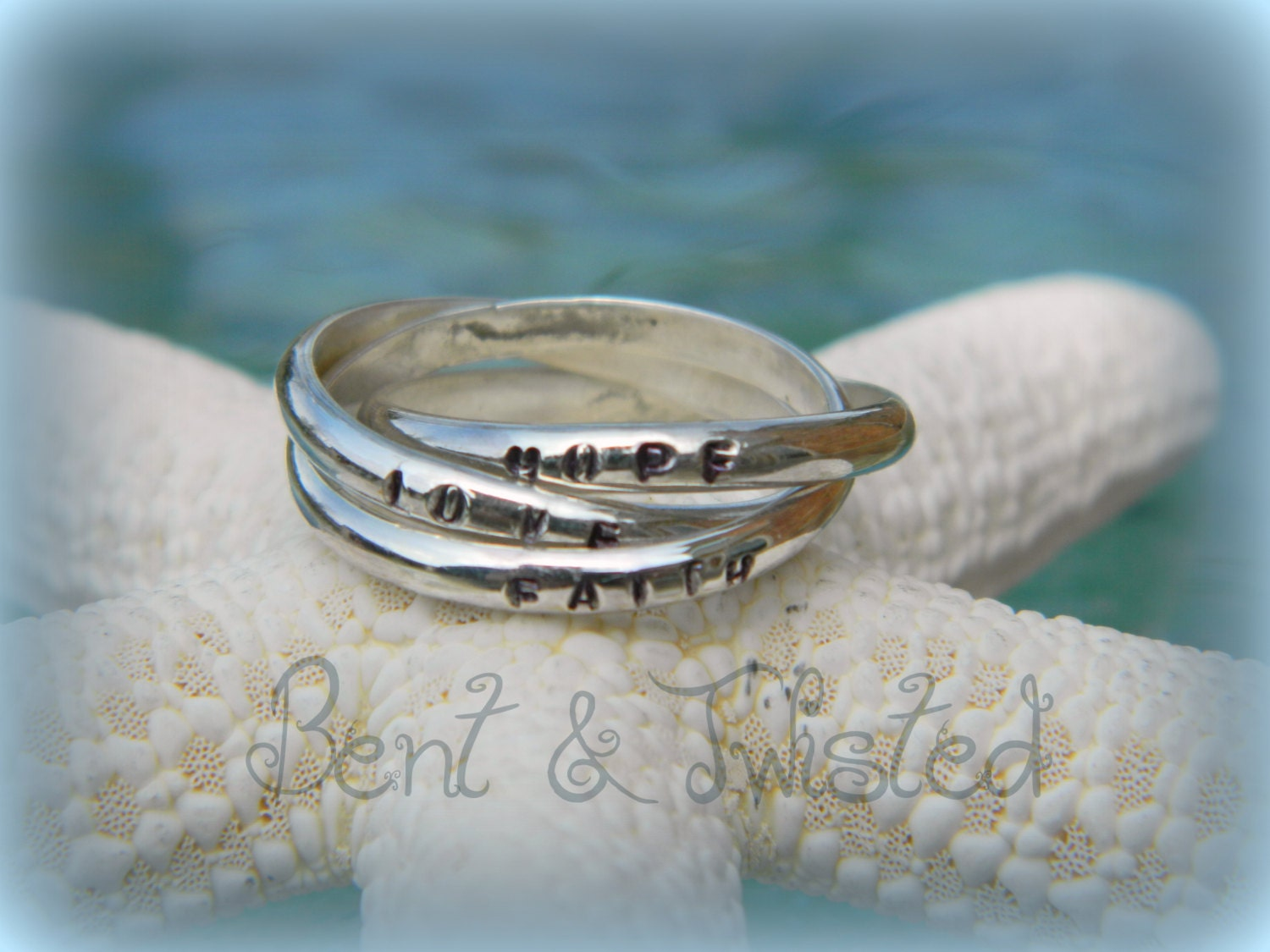 personalized russian wedding ring hand by benttwistedcreations