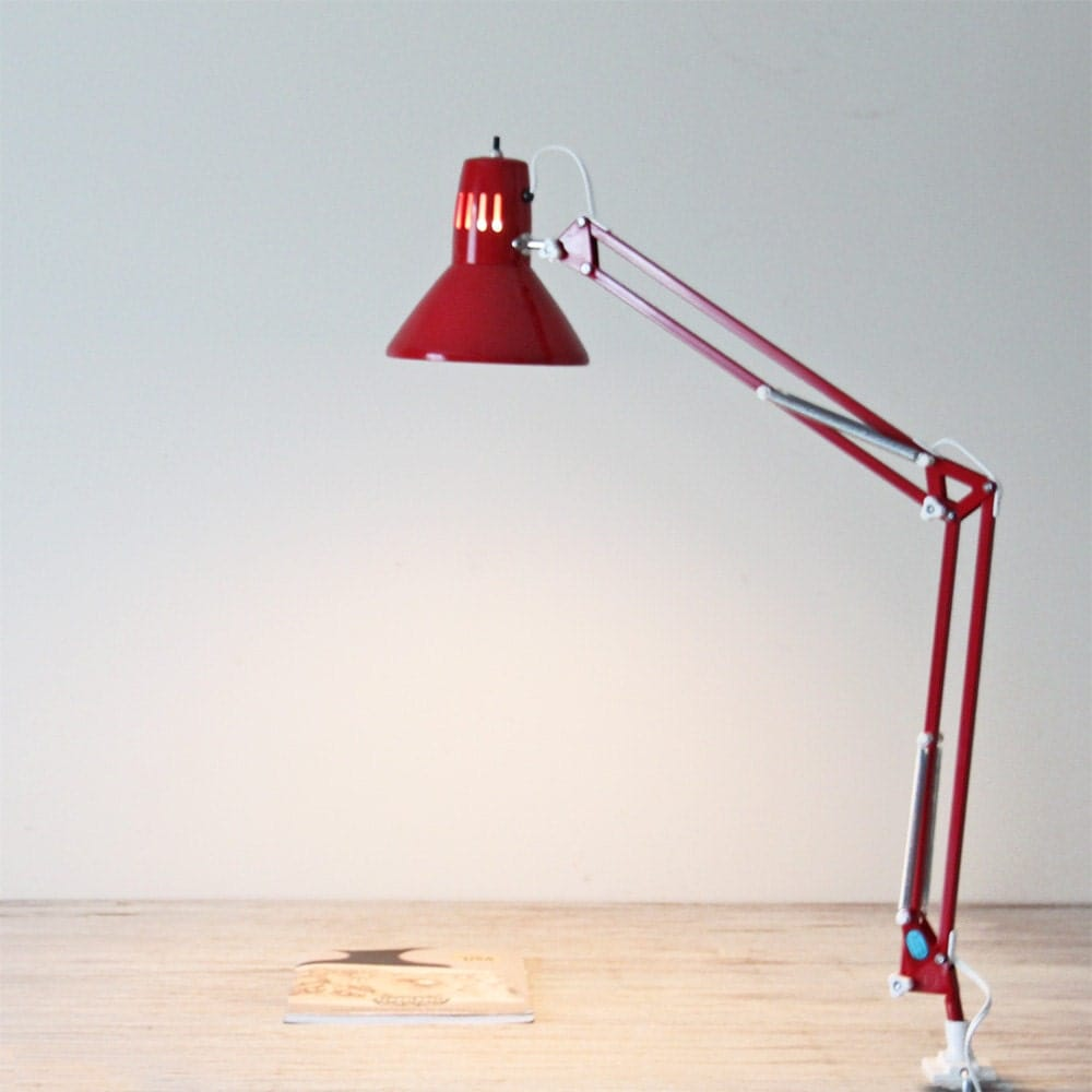 design by century mid lamps ztijl lucifer vintage lamp table desk red fagerhults