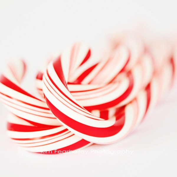 Candy Canes - Fine Art Photography, peppermint, candy, christmas, holiday, red, white, winter, photo, print, whimsical, kitchen art, food