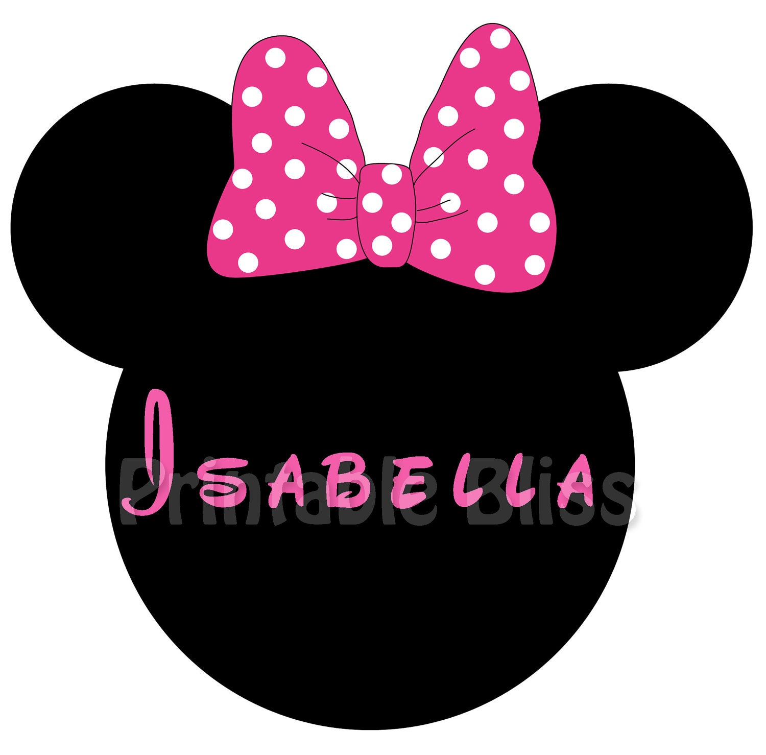 Printable Minnie Mouse Bow Template Craft minnie's fa- mouse bows