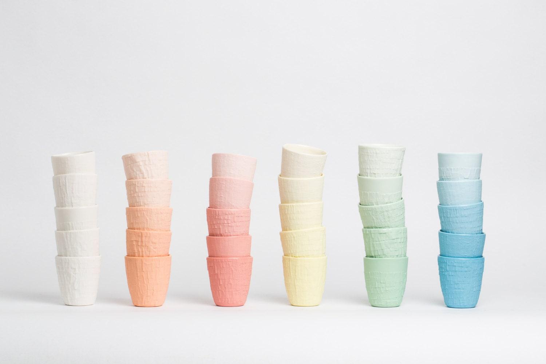 TAPED, een tactiele ervaring in kleurrijk porselein - StudioPS