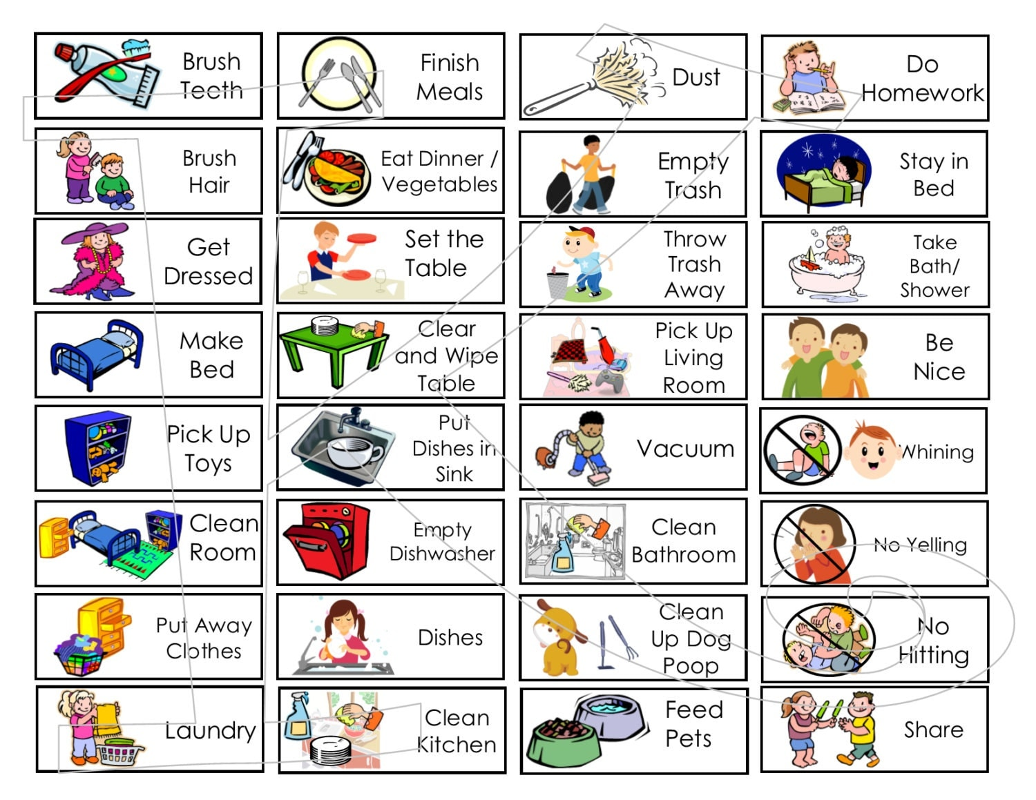 5 Extra Chore Tokens For Allowance Chore Chart Or By