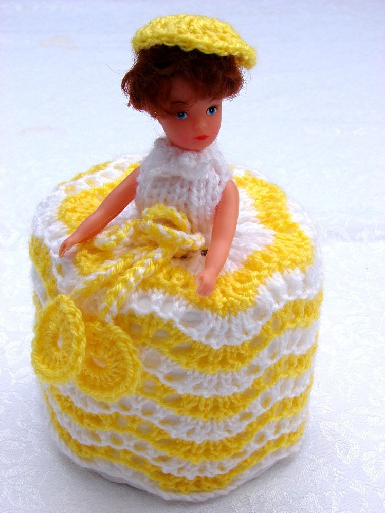 Toilet Roll Cover Knitting Pattern