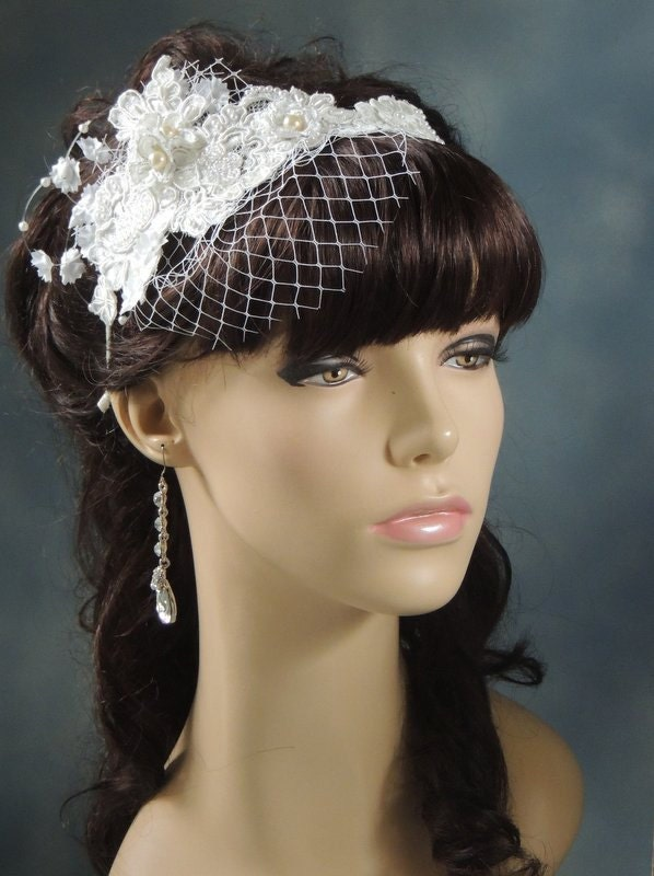 Bridal Blusher Veil Wedding Birdcage Veil By Svitlanasbridalveils