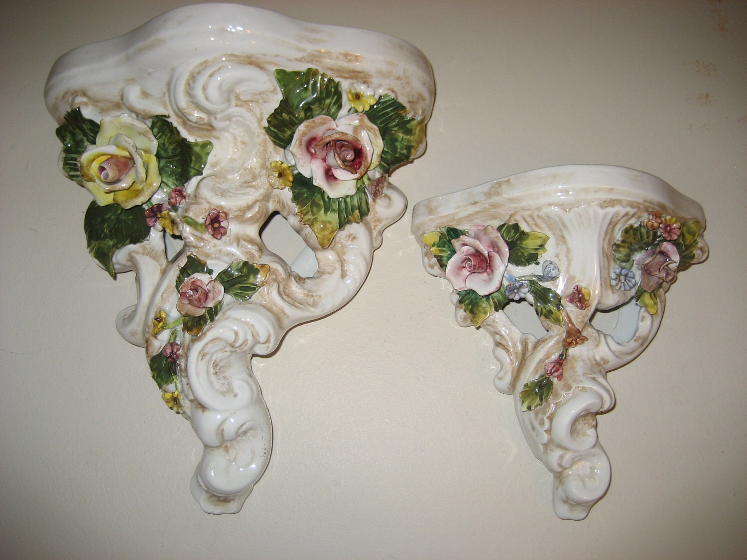 Italian Ceramic Wall Sconces : Vintage Italy Italian Ceramic Wall Sconce by GoodysFromThePast