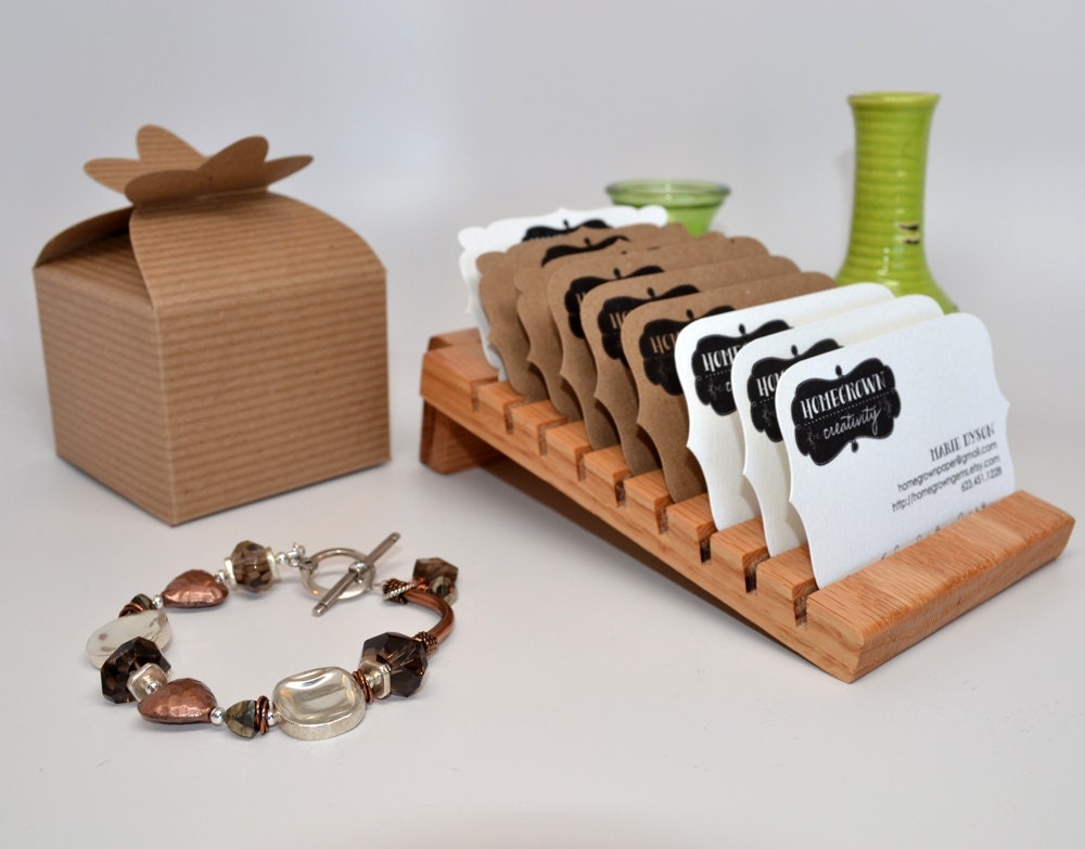 Wooden Business Cards Holder Display Card Holder by