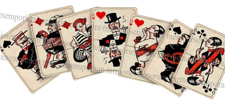 Art Deco Printable Playing Cards