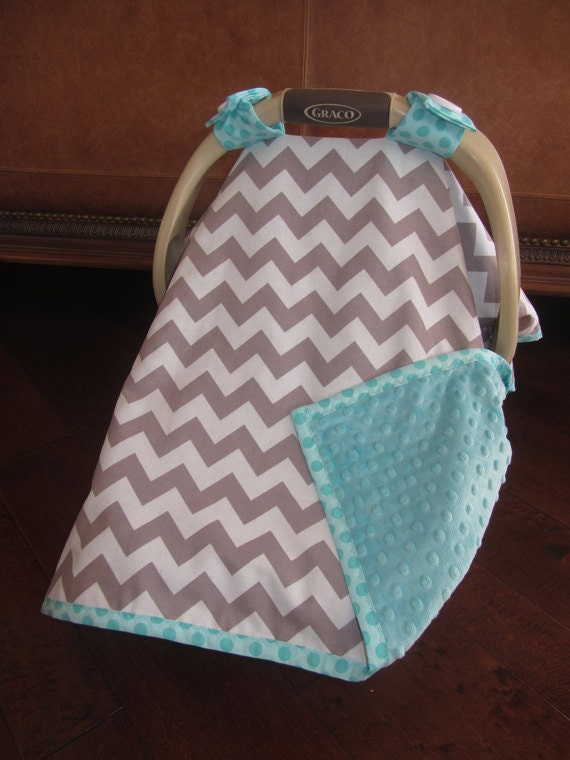 super cute baby car seat covers chevron in gray by kitcarsonblue. Black Bedroom Furniture Sets. Home Design Ideas
