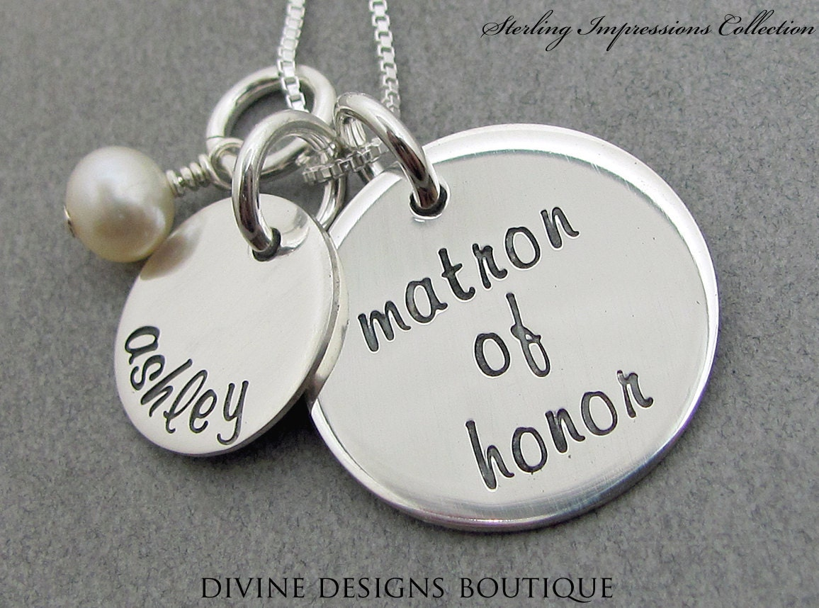 Matron Of Honor Gift Wedding Jewelry By DivineDesignJewelers