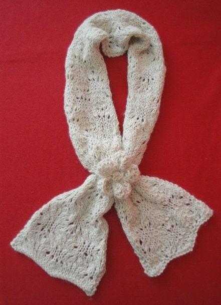Striped neck warmer - free knitting pattern - Pickles