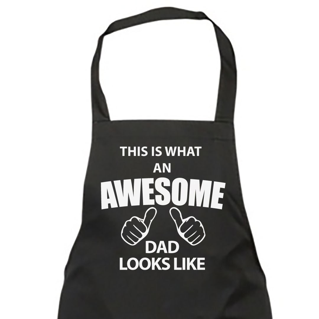 Dad Apron Awesome Dad Apron Mens Fathers Day Birthday Christmas Gift Idea