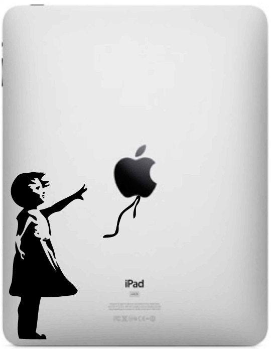 Banksy Balloon Girl Ipad Decal - Mac Decal - Laptop Sticker - Ipad 2 ...