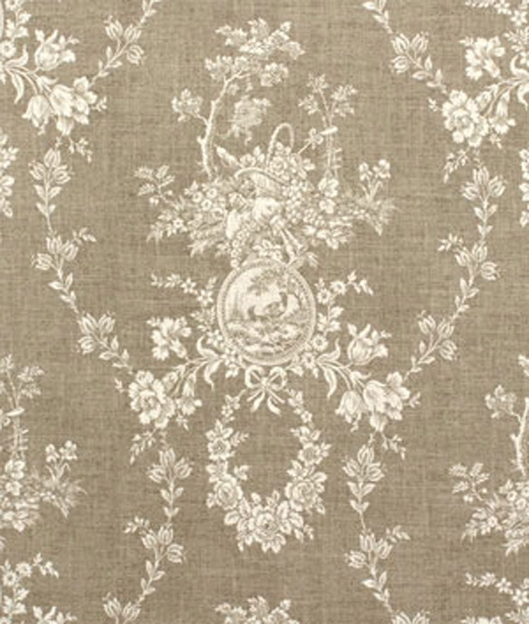 Curtains Ideas sheer linen curtains : Waverly Country House Linen Cameo Toile Fabric by texassusannie