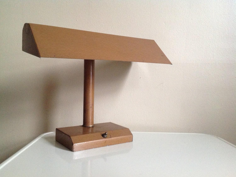 vintage metal desk lamp by funretro on etsy. Black Bedroom Furniture Sets. Home Design Ideas