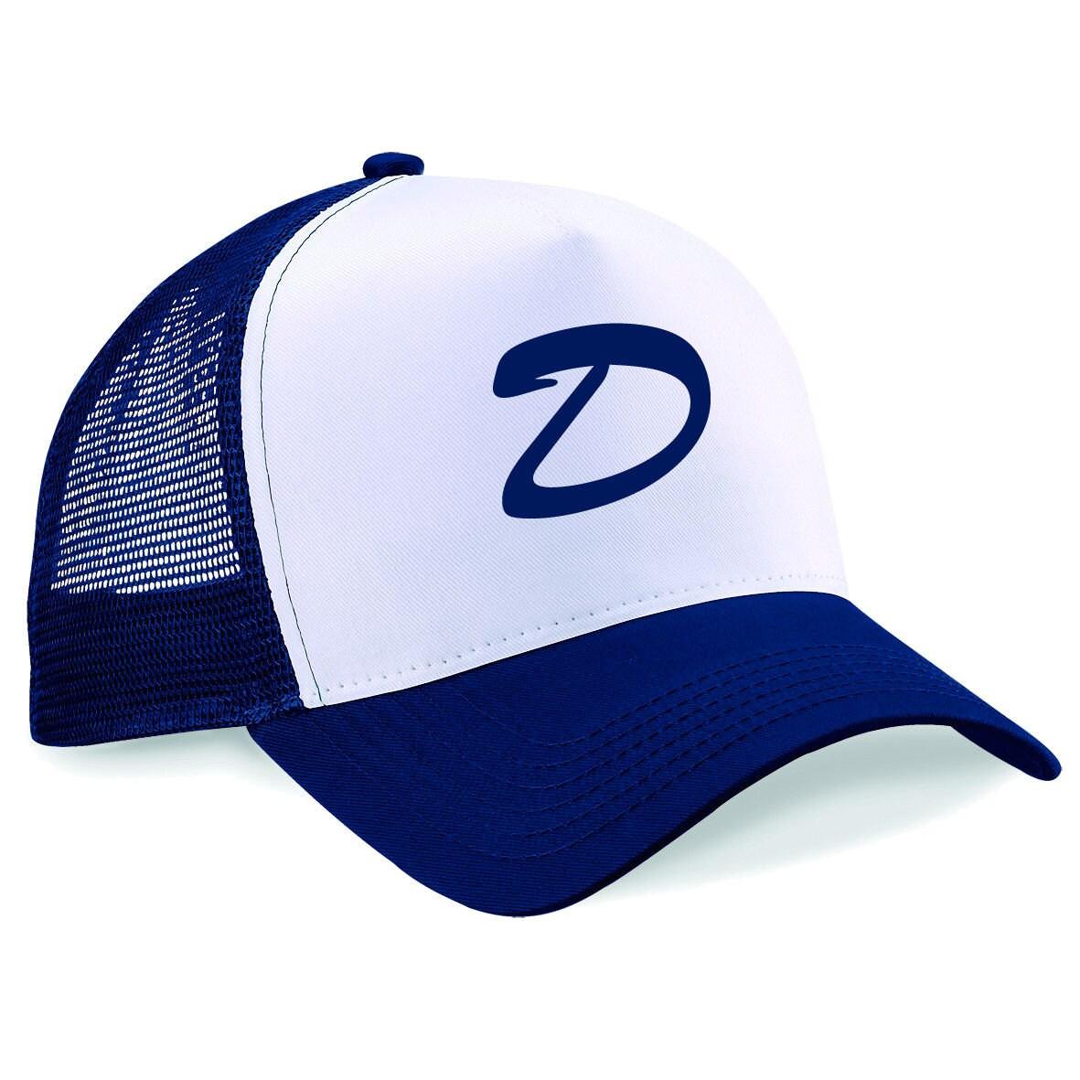 Trucker Cap Clementines Hat  Letter D Snapback Printed Half Mesh Baseball Trucker Cap