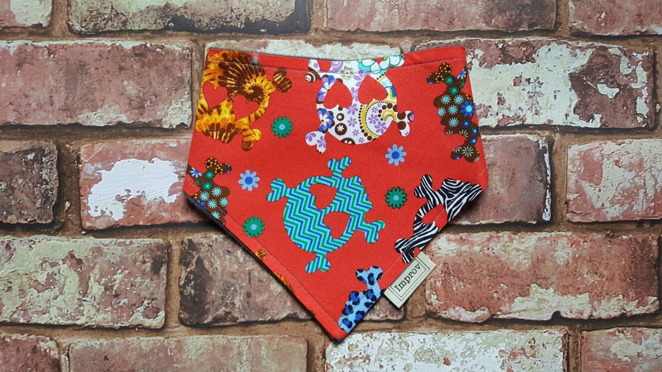 Dribble bib bibdana baby bib gender neutral fancy dress handmade bibs bibs UK red bib sugar skull halloween baby trick or treat