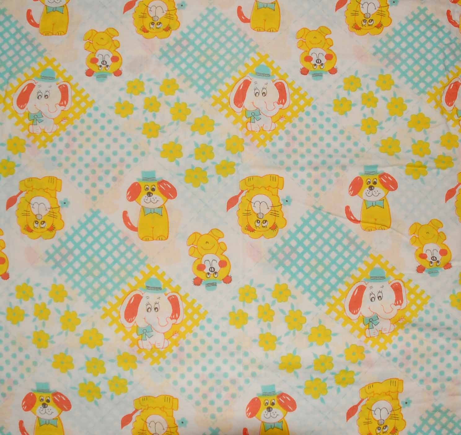 Vintage children fabric by frubach on etsy for Retro kids fabric