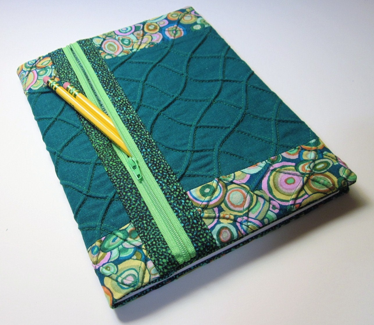 Fabric Composition Book Cover ~ Refillable fabric journal cover blank book lined by