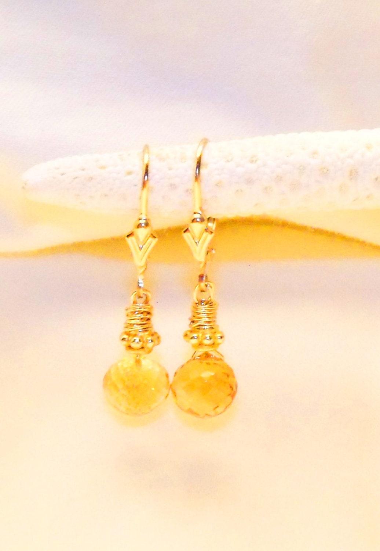 Earring: Citrine Briolettes - AntiquityTravelers