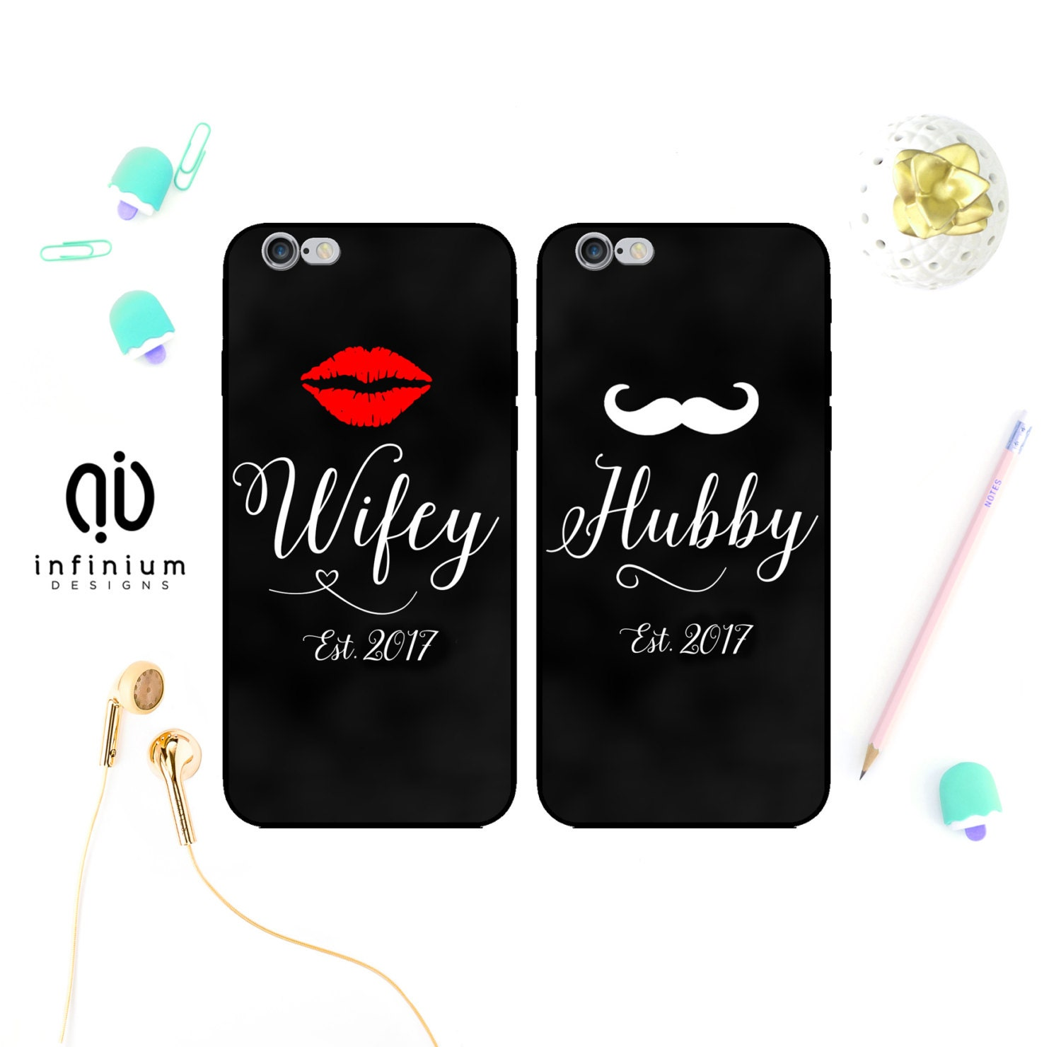 Wifey Hubby Case For iPhone 7 Samsung S7 S7 Edge S6 Samsung A5 Galaxy A3 J5 J3 Core Prime 7 Plus iPhone 6S SE 5S  Touch 6