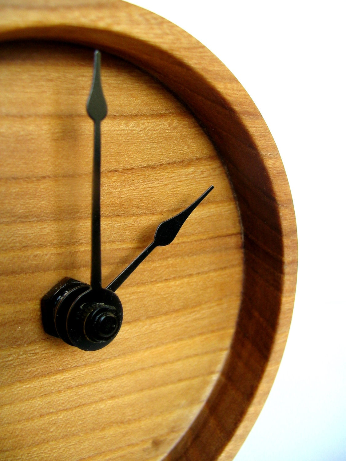 Elm Wooden Clock