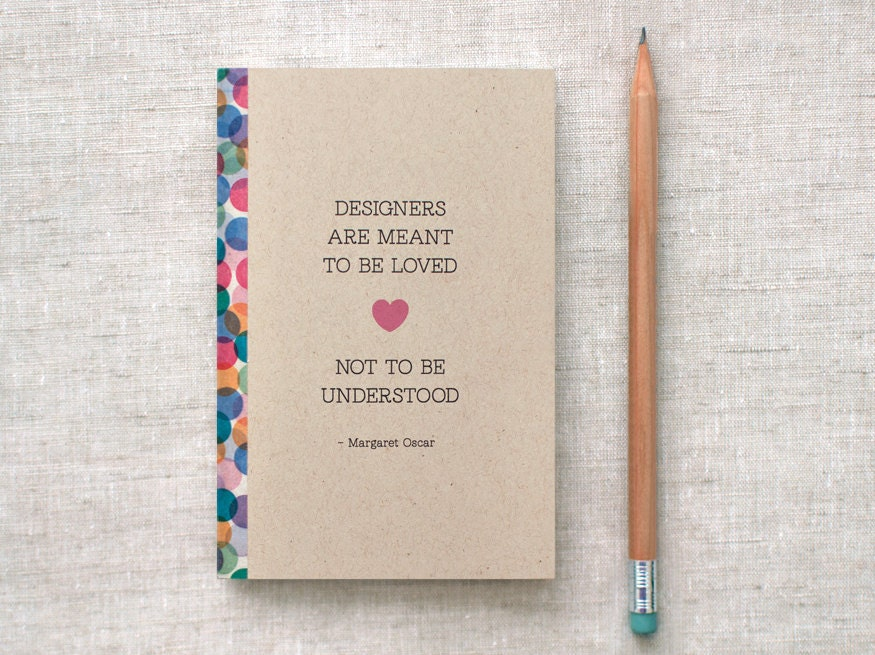 Mini Sketchbook - Designers - Oscar Quote - Eco Friendly Journal