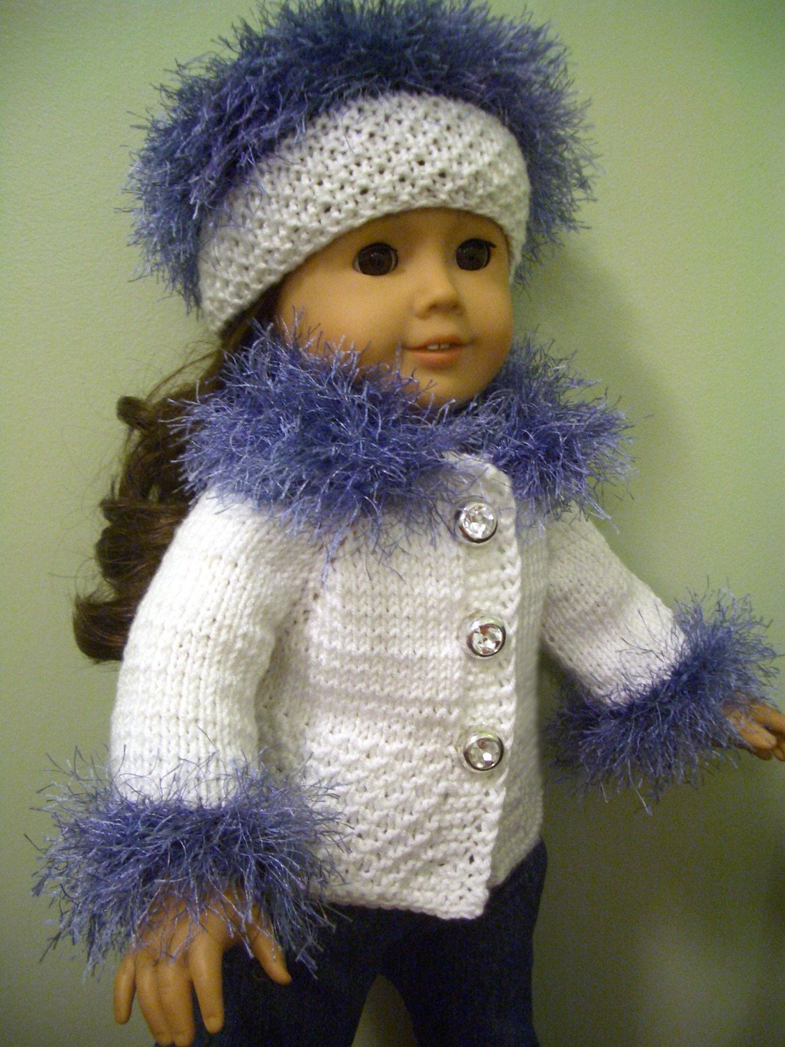 KNITTING PATTERN for American Girl 18 inch DOLL by KNITnPLAY
