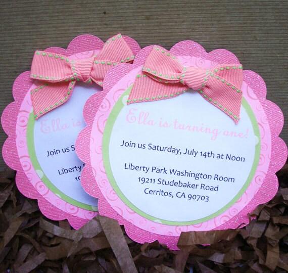 Homemade 1St Birthday Invitations is perfect invitation template