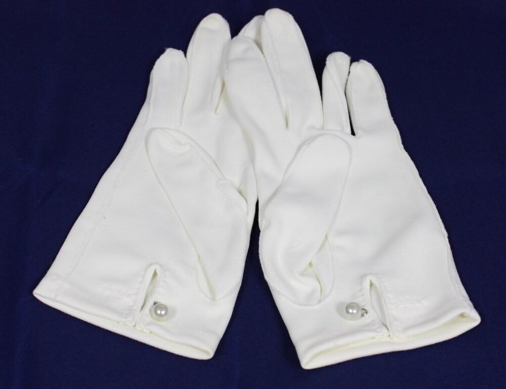 Wonderful Vintage Gloves Women39s White Dress Gloves By Ilovevintagestuff