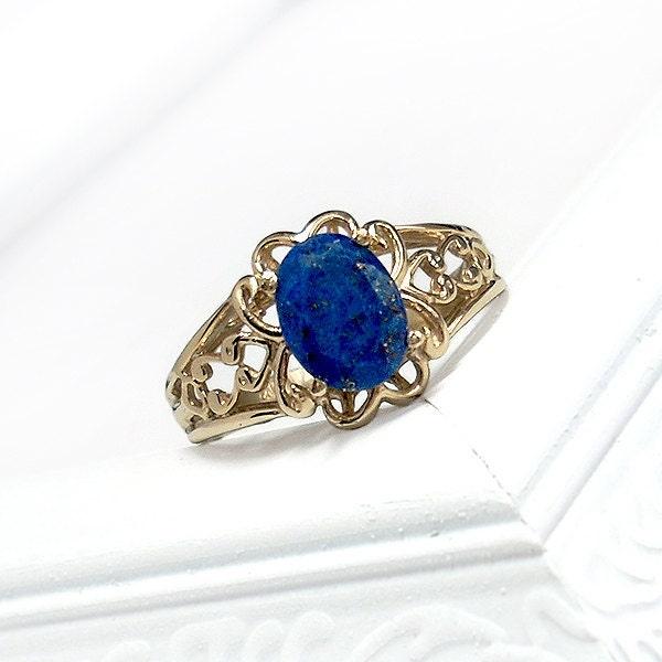 Lapis Lazuli Ring Etsy