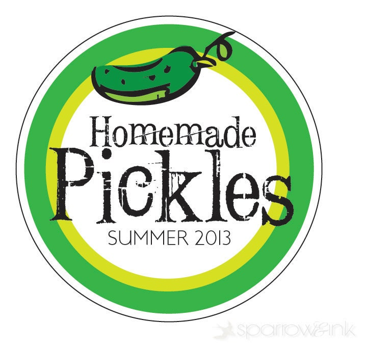 Items Similar To 2 Quot Canning Label Pickle Sticker Summer