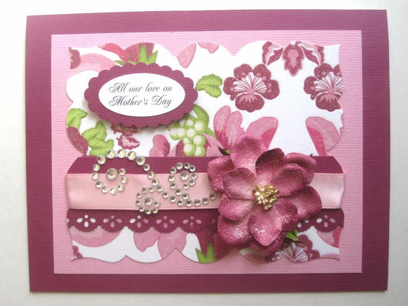 Elegant mother 39 s day card glitter and by bellacardcreations for Classy mothers day cards