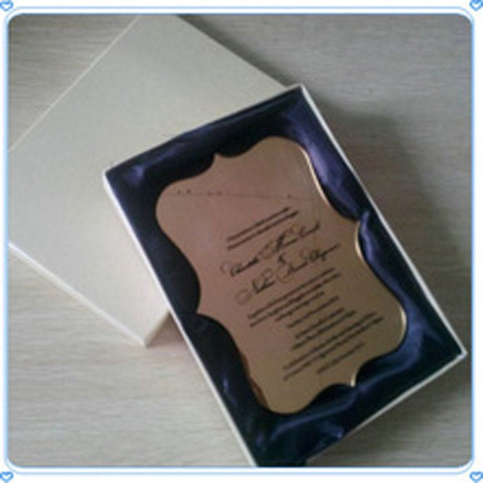 Image of 100 Personalised Laser Cut Clear Acrylic Wedding Invitations with folder