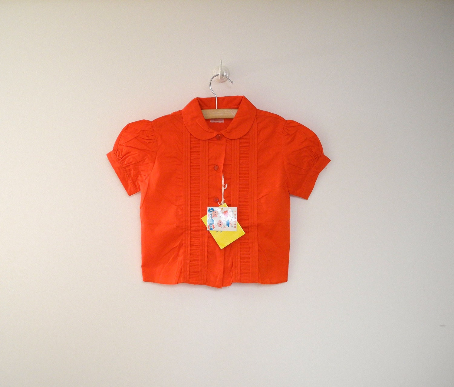 """1950's Bright Red """"Betty Winkle"""" Blouse - BabyTweeds"""