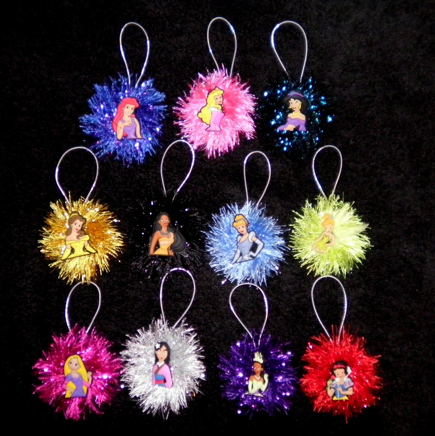 DISNEY PRINCESS Christmas OrnamentsYour Choice You by everydayabow