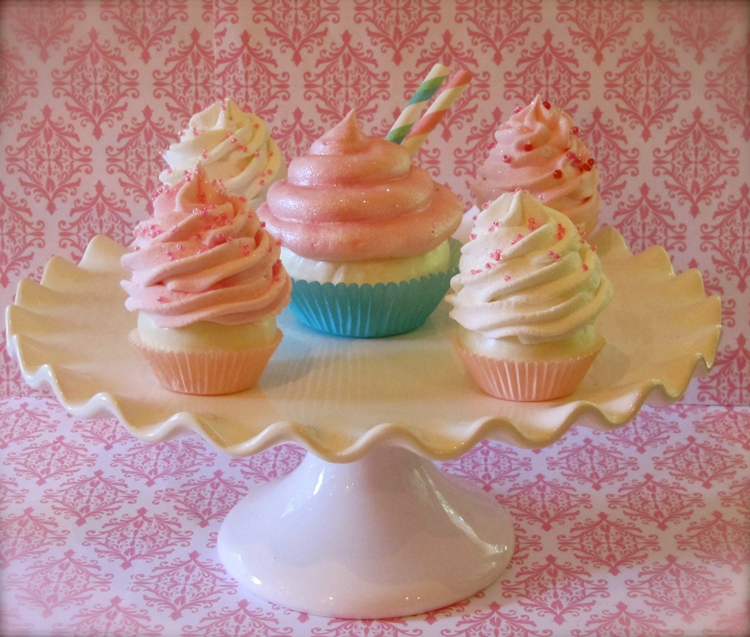 Fake Cotton Candy: Fake Cupcake Cotton Candy Bliss Collection By