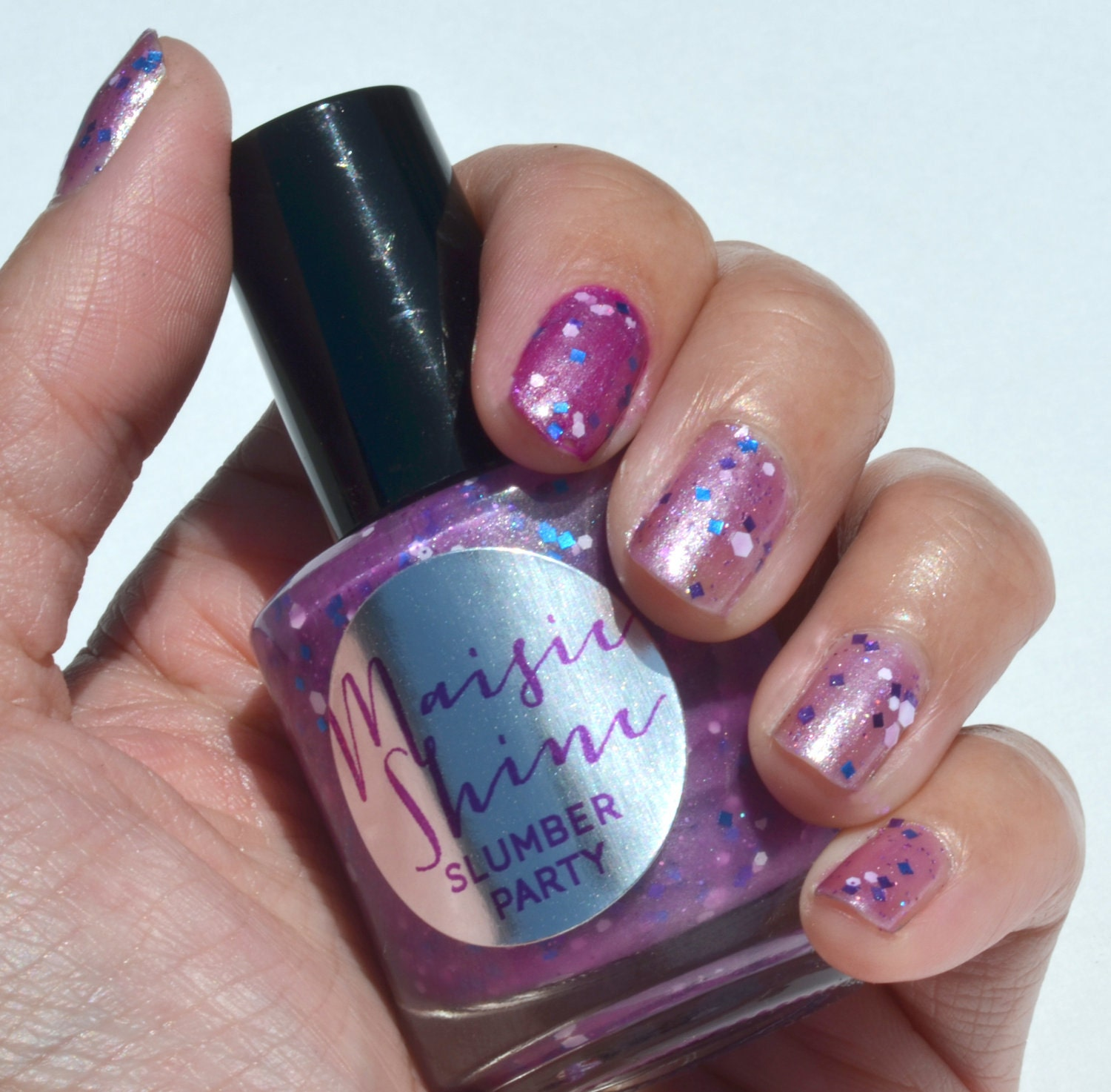 Nail Polish Bottles Fun Sleepover Games And Sleepover: Nail Polish: Slumber Party Purple With White And By