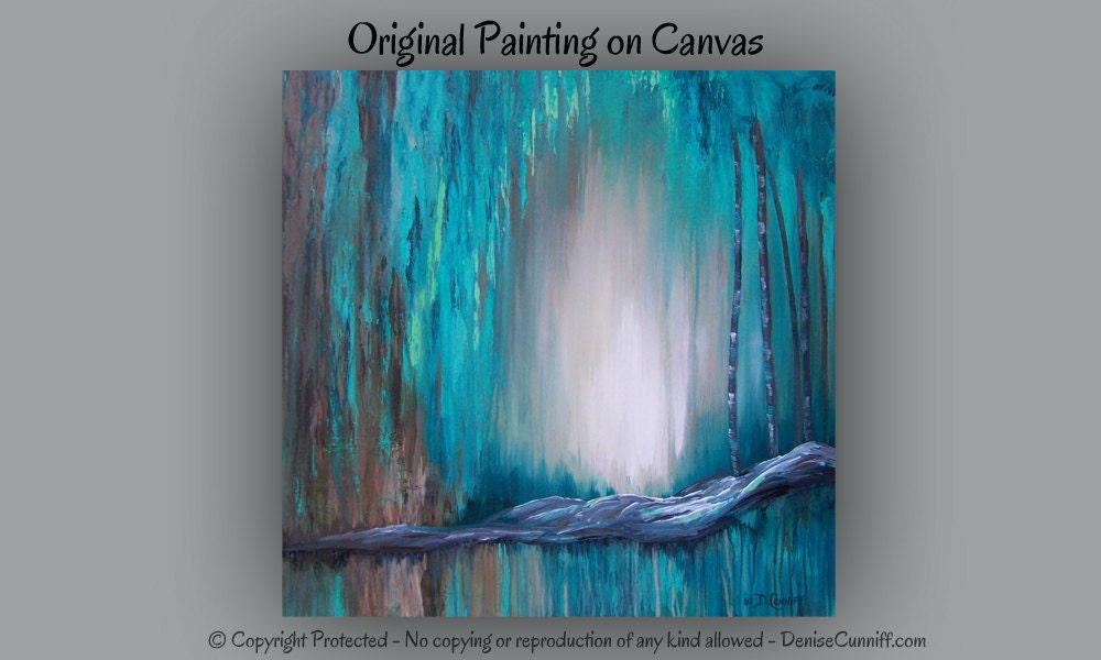 ... decor, Bedroom brown and teal canvas, Aquamarine blue abstract