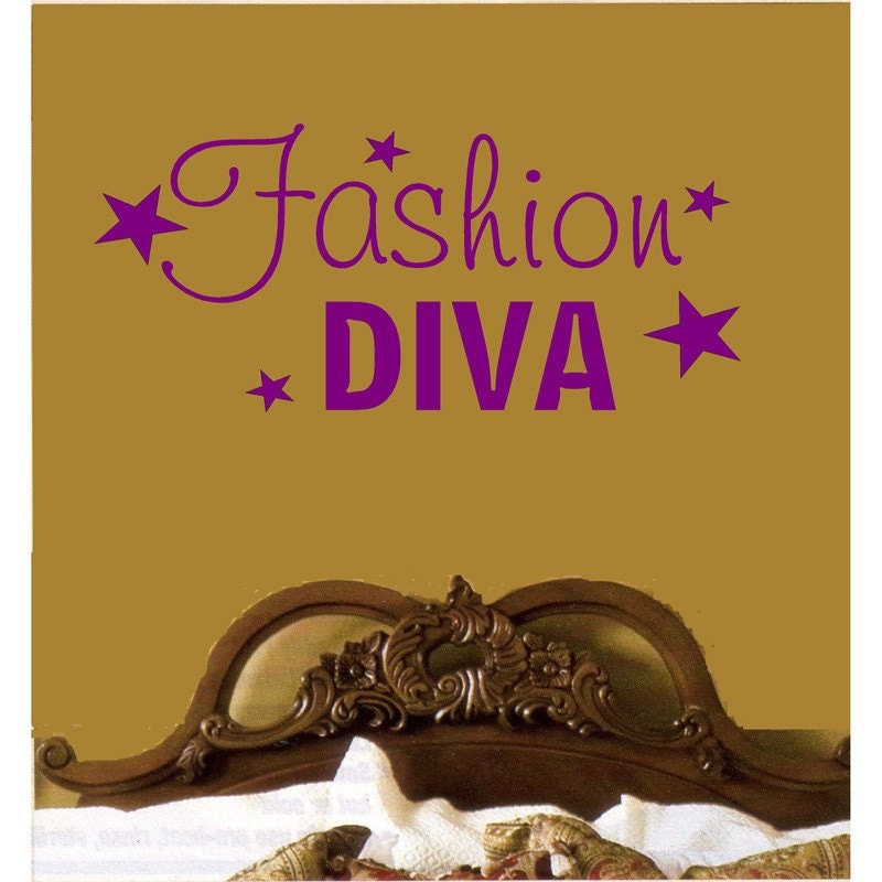 Items similar to fashion diva bedroom decor vinyl for Diva bedroom ideas