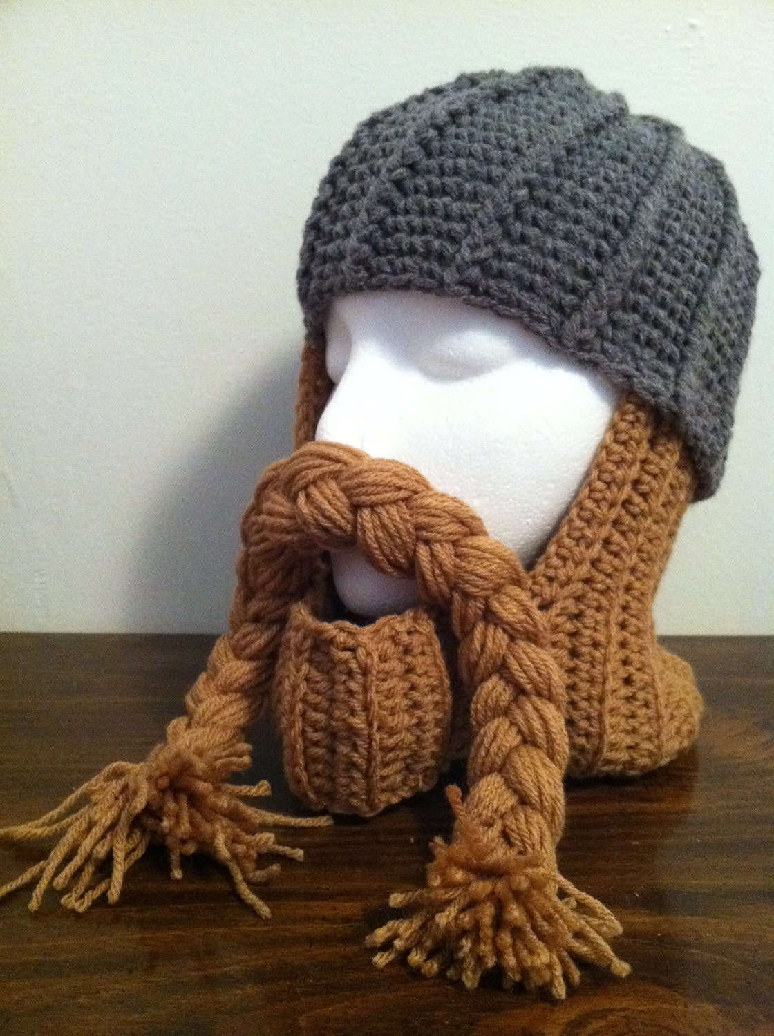 Crocheted Knight Hat by IsaacsBirdBrains on Etsy