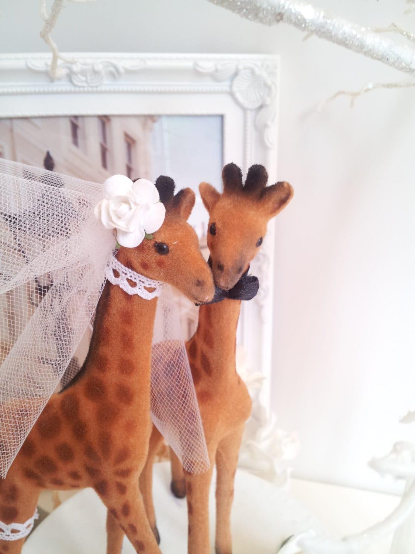 Large Giraffes Wedding Cake Topper Custom Head By MissRoseDanae