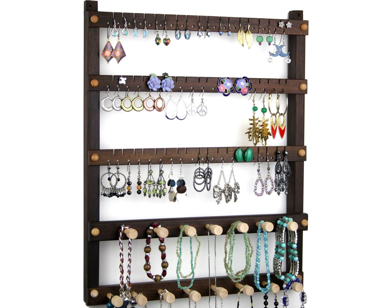 jewelry holder peruvian walnut earring by tomsearringholders