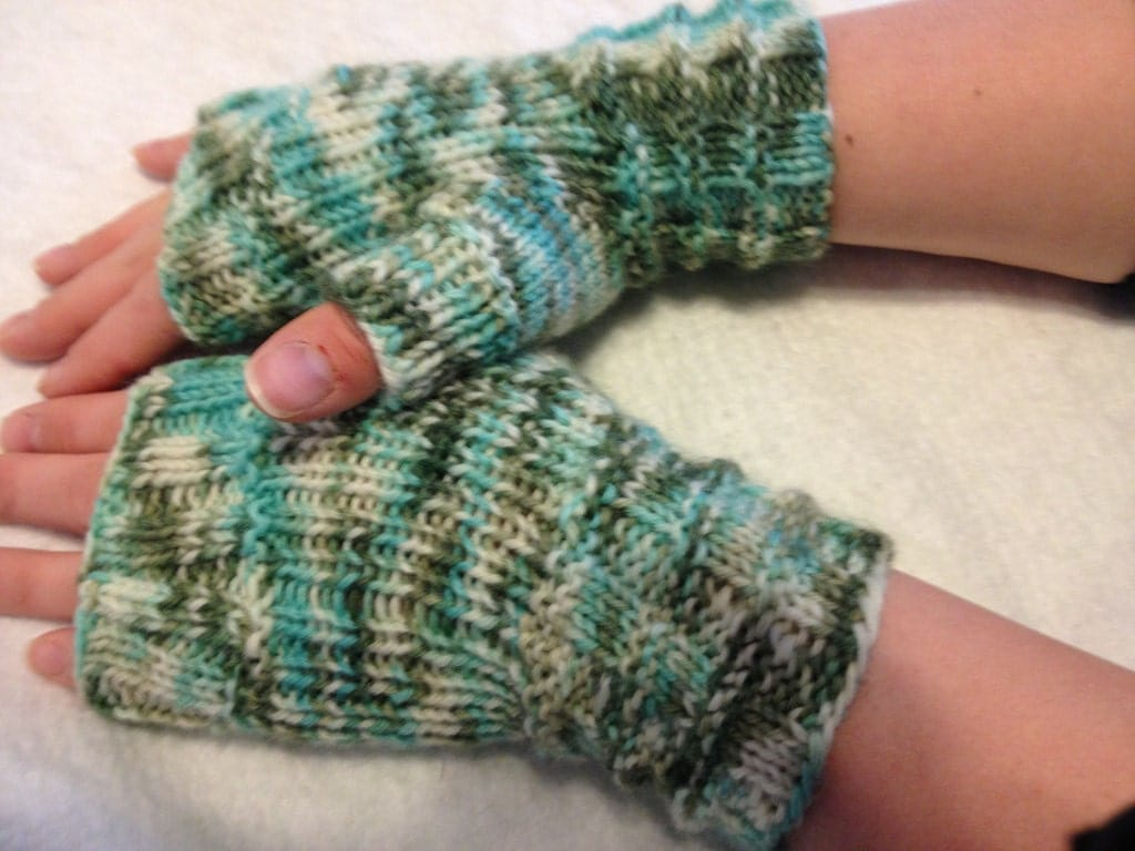 Fingerless Mitts-Ready to Ship - SixmunchkinStitching