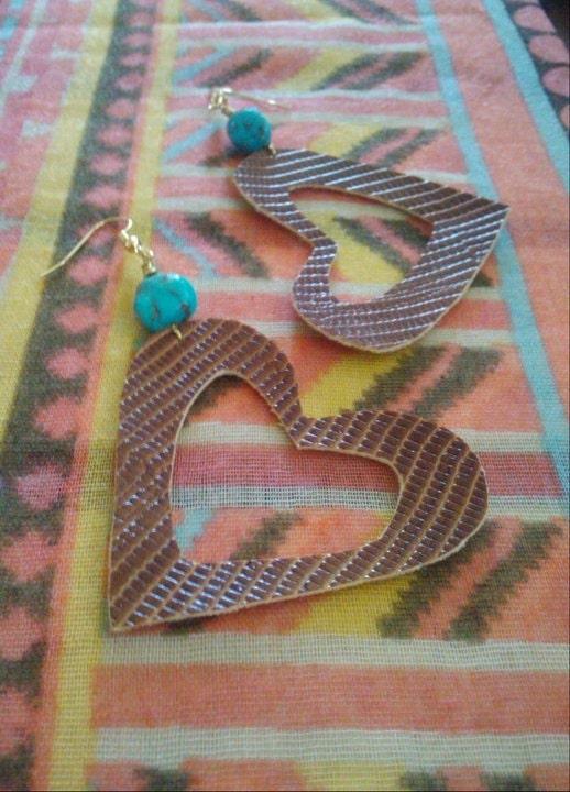 Malaya Earrings (faux leather)