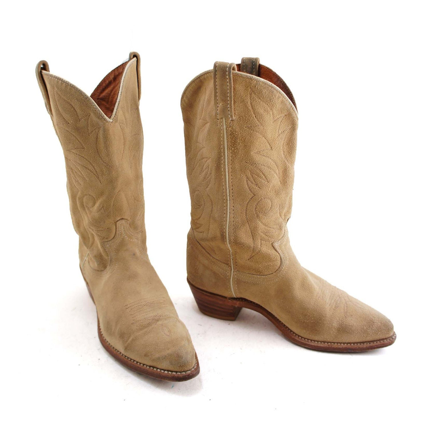 boho goes west suede cowboy boots by acme with by nashdrygoods