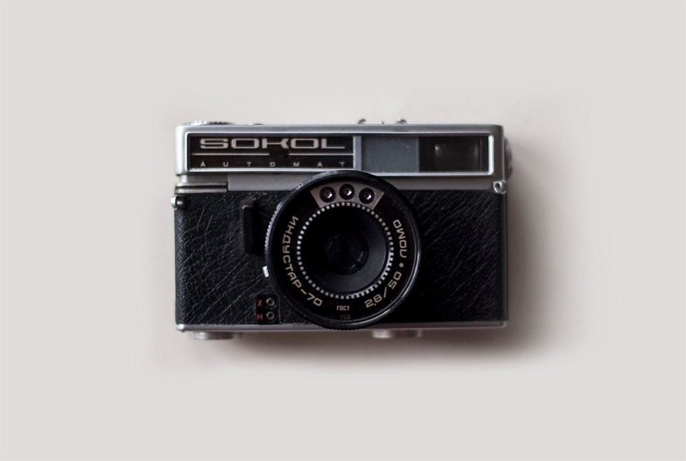Vintage Soviet Camera - SOKOL - working condition - CuteOldThings