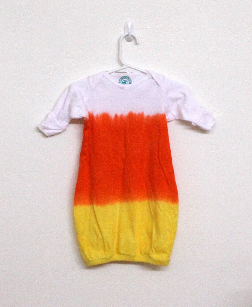 Infant Candy Corn baby bunting cotton hand dyed - HappyCamperStudio